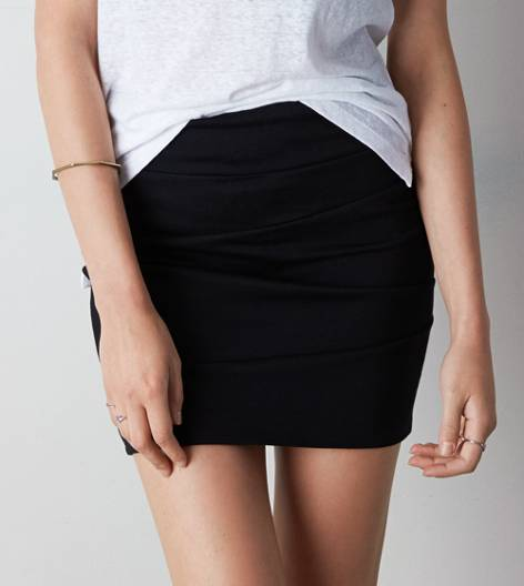 True Black AEO Bodycon Pencil Skirt