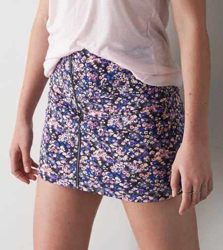 AEO Full Zip Floral Skirt