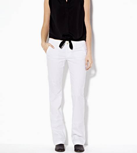 White  AE Kick Boot Pant