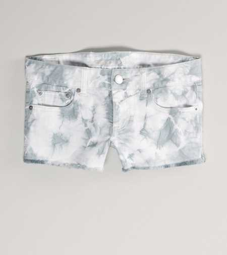 AE Tie-Dyed Denim Shortie