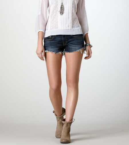 AE Frayed Denim Festival Shortie
