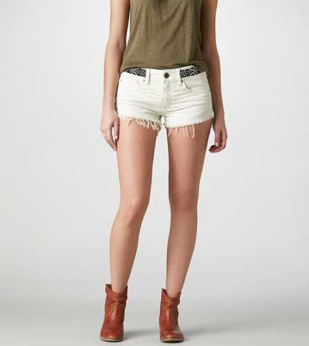 AE Beaded Denim Shortie - Take 40% Off