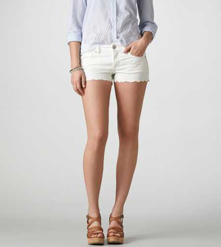 AE Embroidered Denim Shortie