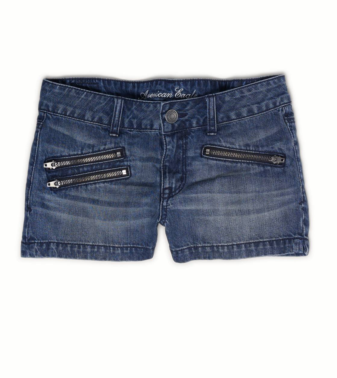 Indigo AE Zip Pocket Denim Shortie