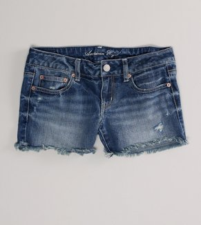 AE Destroyed Denim Midi Short - Buy One Get One $10