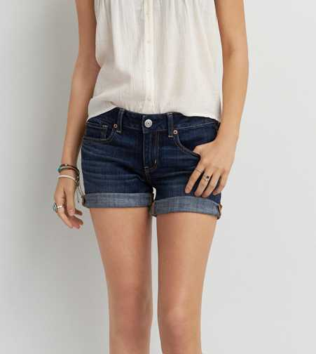 AEO Rolled Denim Midi Short