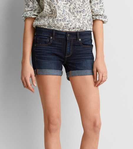 AEO Denim X4 Denim Midi Short
