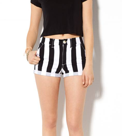 Black AE Hi-Rise Striped Shortie