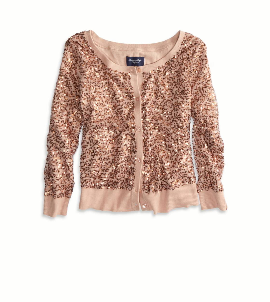Rose AE Sequined Crop Cardigan