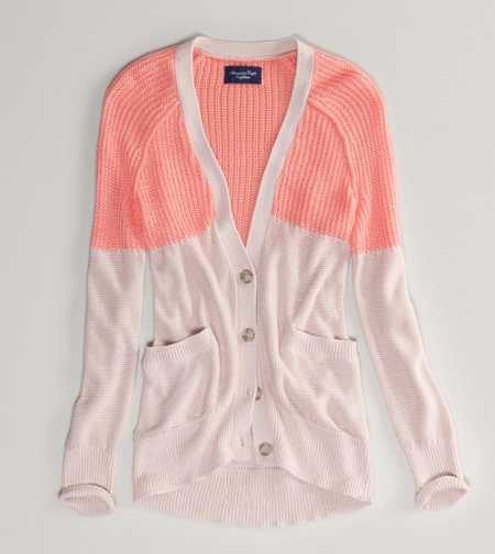 AE Colorblock Girlfriend Cardigan