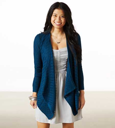 AE Shimmery Open Knit Cardigan