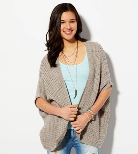 Heather Brown AE Short Sleeve Open Cardigan
