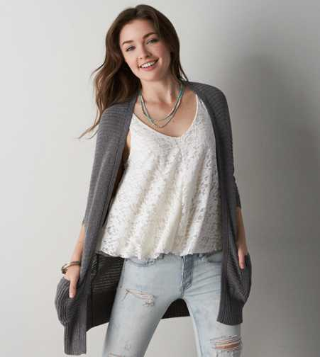 AEO Ribbed Dolman Cardigan - Buy One Get One 50% Off