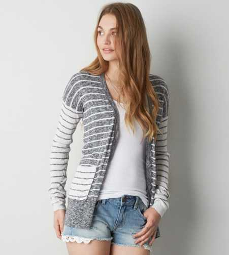 AEO Real Soft® Mixed Stripe Cardigan - Buy One Get One 50% Off