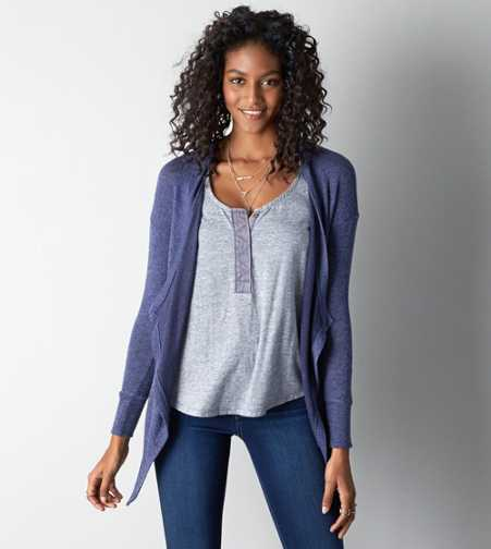 AEO Feather Light Open Cardigan