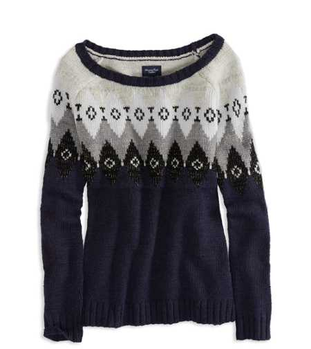 AE Metallic Fair Isle Sweater