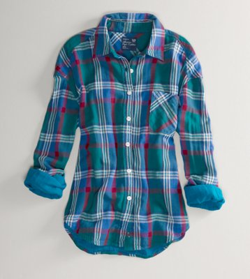 American Eagle Plaid shirt  $39.50