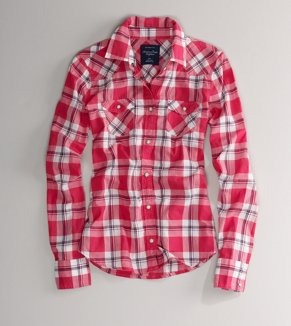 AE Plaid Western Shirt