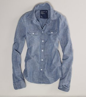 AE Chambray Western Shirt