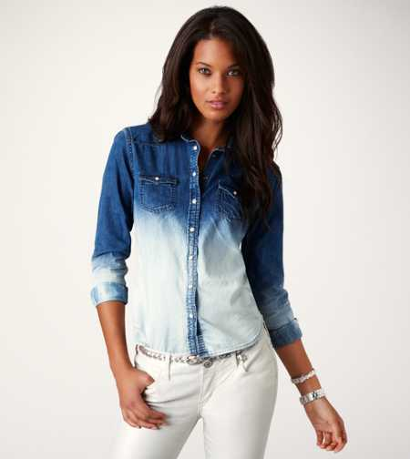 AE Ombre Denim Western Shirt