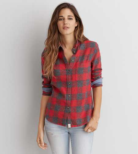 AEO Flannel Shirt Jacket