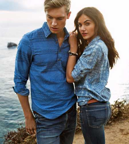 AEO Denim Boyfriend Shirt