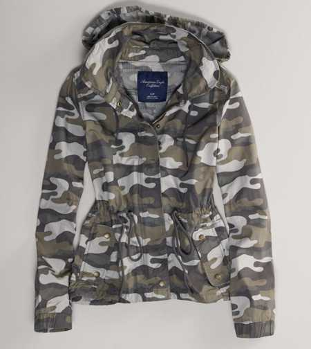 AE Camo Hooded Jacket