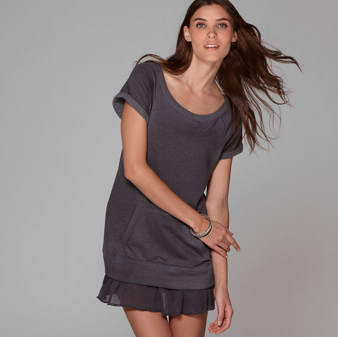 Women's AE Sweatshirt Dress - American Eagle Outfitters :  dress going out ae nights