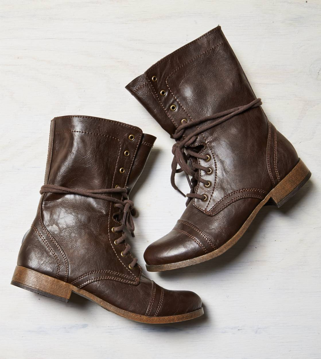 Brown AEO Rugged Lace Front Boot