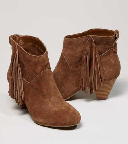 AEO Fringed Suede Bootie - Free Shipping On Shoes