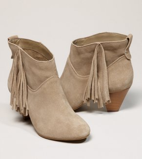 AEO Fringed Suede Bootie