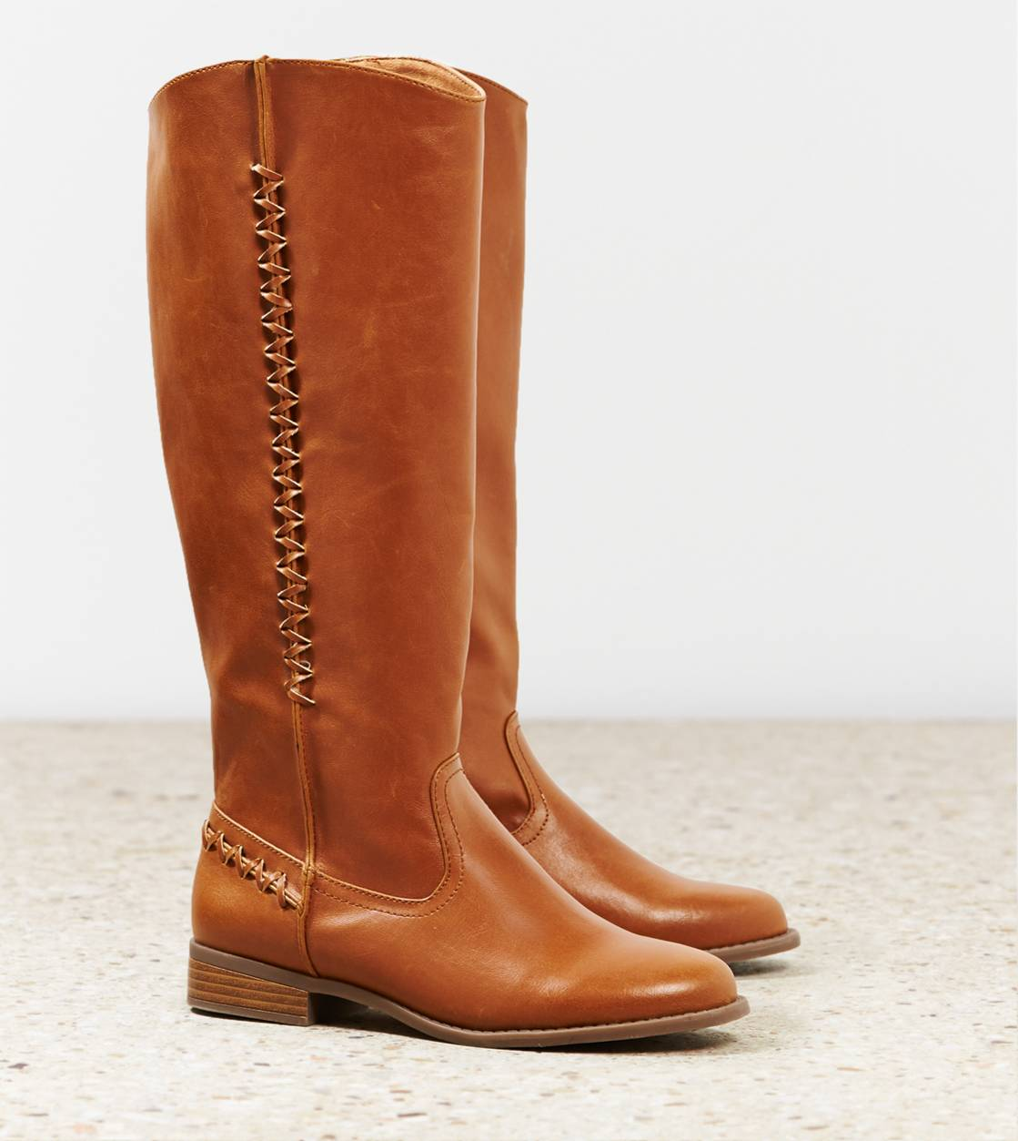 Tan AEO Zig Zag Riding Boot