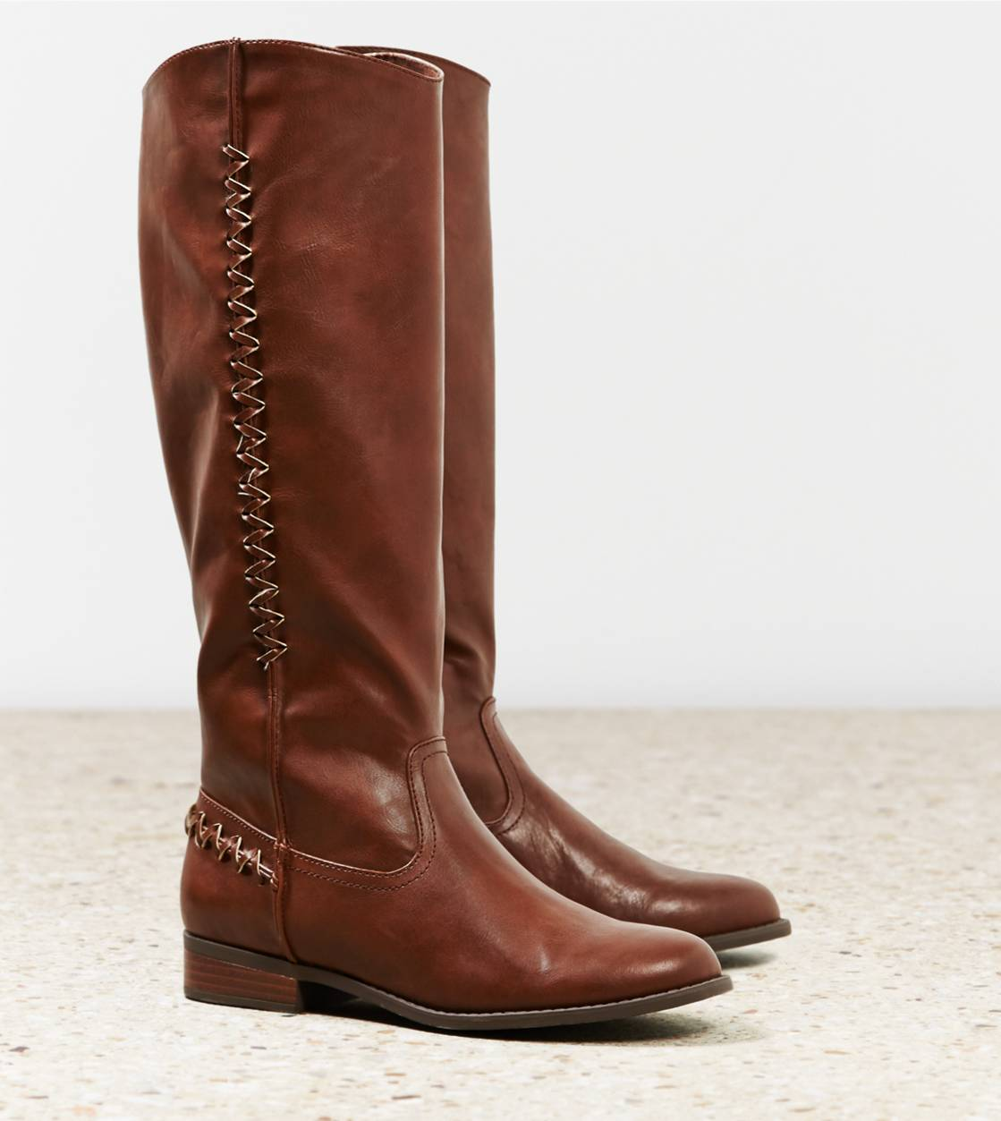 Cognac AEO Zig Zag Riding Boot