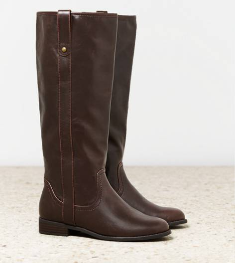 Brown AEO Pull On Riding Boot