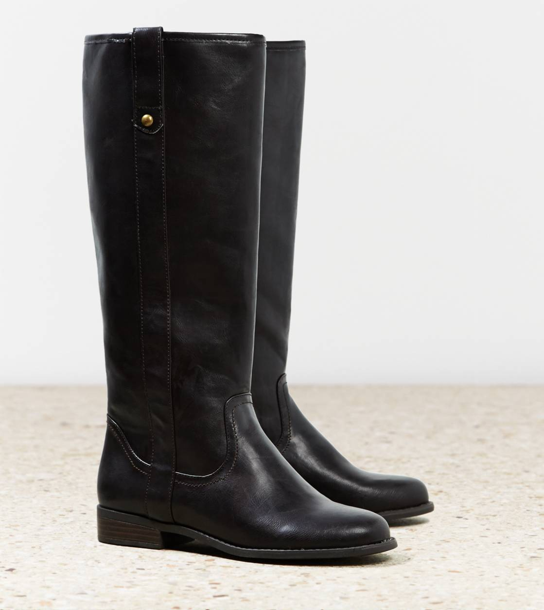 Dark Brown AEO Pull On Riding Boot