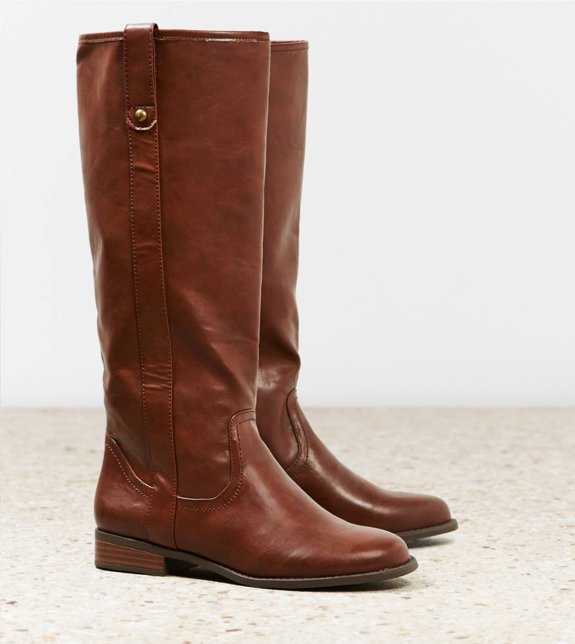 Cognac AEO Pull On Riding Boot