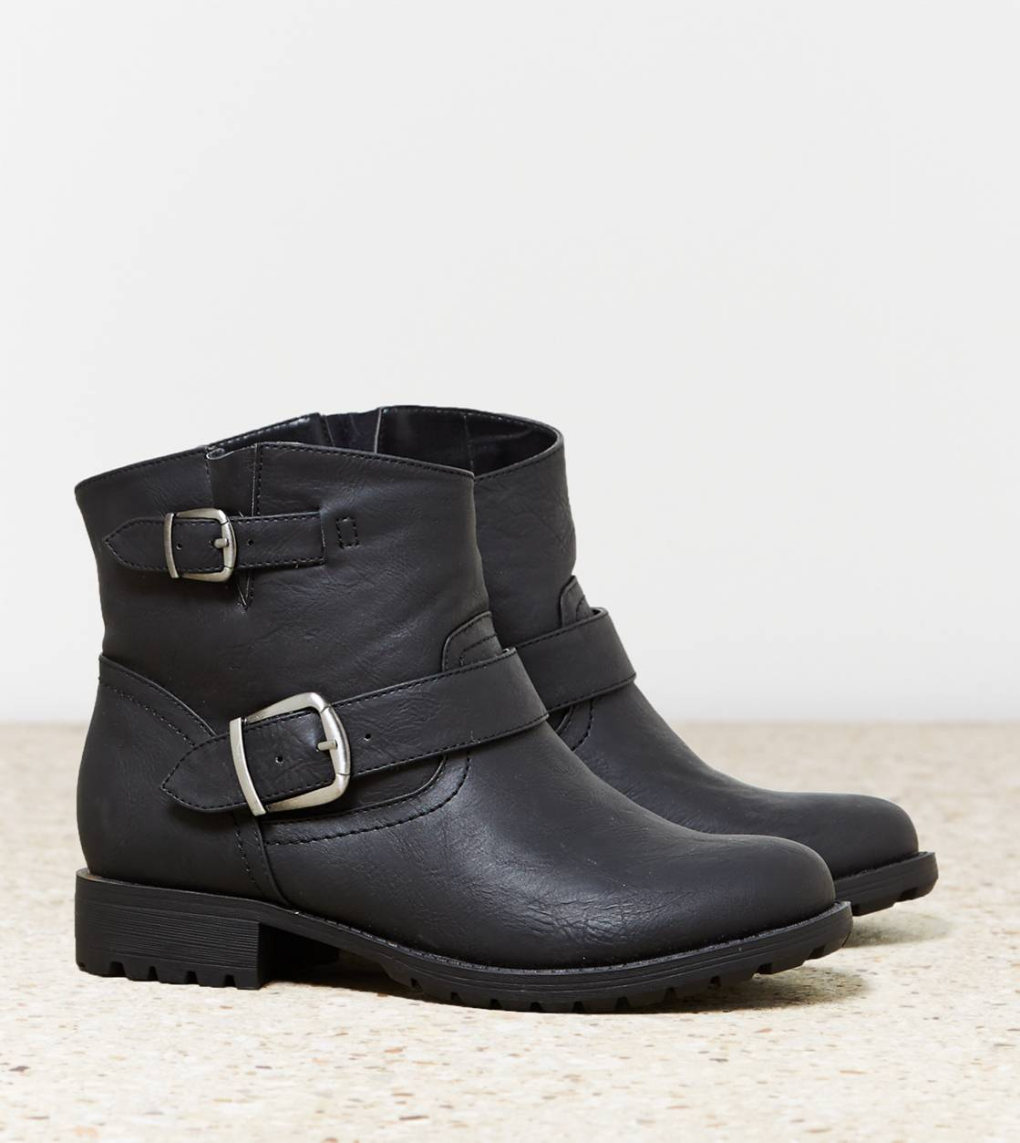 Black AEO Buckle Bootie