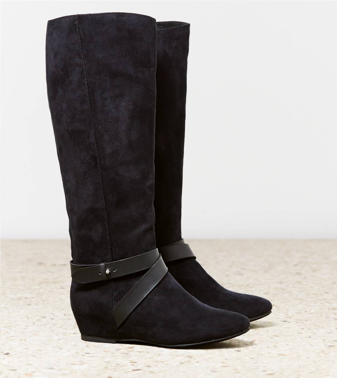 Black AEO Hidden Wedge Riding Boot