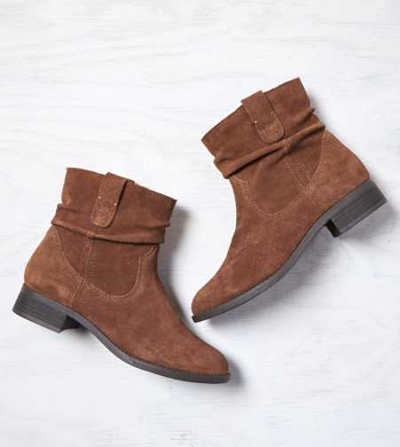 AEO Slouchy Suede Bootie - Free Shipping