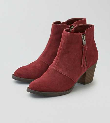 AEO Double Zip Suede Bootie  - Free Shipping