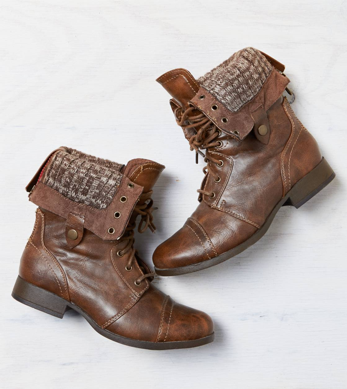 Brown AEO Lace-Up Boot