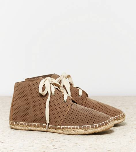Taupe AEO Perforated Desert Bootie
