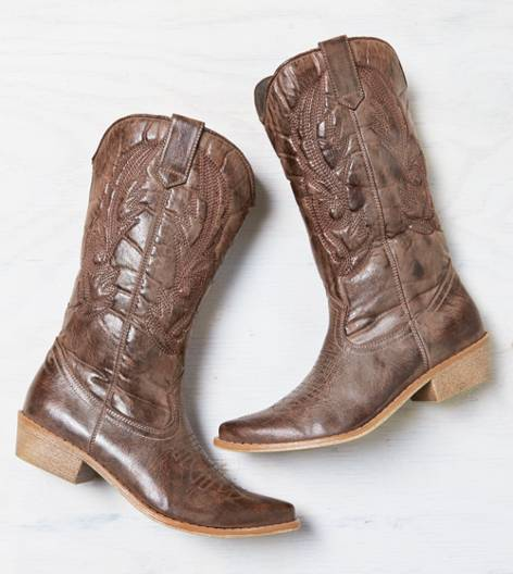 Brown AEO Stitched Cowboy Boot