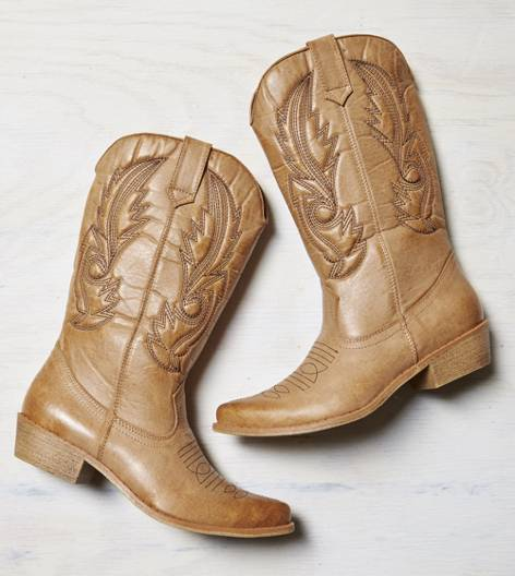 Tan AEO Stitched Cowboy Boot