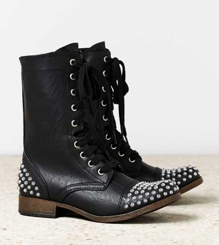 AEO Studded Lace-Up Boot - Take 40% Off