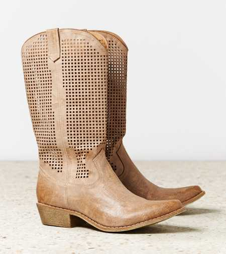 AEO Perforated Cowboy Boot - Take 40% Off