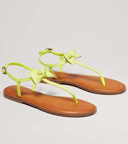 AEO Bow T-Strap Sandal - Free Shipping On Shoes