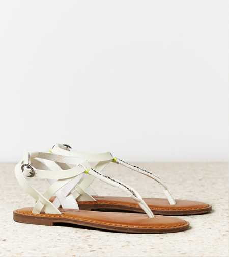 AEO Beaded T-Strap Sandal - Free Shipping On Shoes