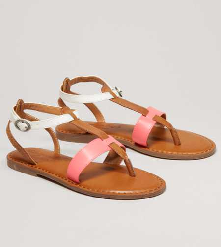 AEO Colorblock T-Strap Sandal - Free Shipping On Shoes