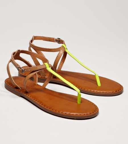 AEO Shine T-Strap Sandal - Buy One Get One 50% Off